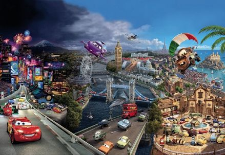 Cars 2 Disney wall mural